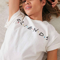 friends logo white tee