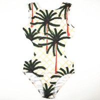 Summer print bikini set swimwear