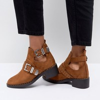 Pimkie Cut Out Heeled Ankle Boots at asos.com
