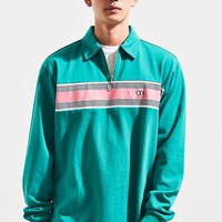 Lazy Oaf Green With Jealousy Zip Rugby Shirt | Urban Outfitters