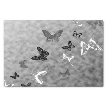 "Black n White Butterflies 10"" X 15"" Tissue Paper"