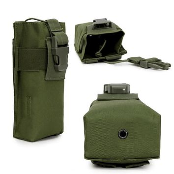 Outdoor Military Tactical Airsoft Paintball Hunting Molle Radio Walkie Talkie Pouch Sports Water Bottle Canteen Bag