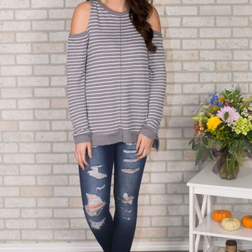 Lucy Cold Shoulder Top
