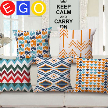 New hot Bohemian Ethnic style geometry cushions decorative linen cotton cushion covers for sofa throw pillows home decor bedroom