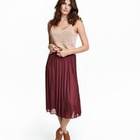 Satin Skirt - from H&M