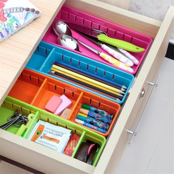 3pcs Japanese Plastic Drawer Storage Grid Kitchen Tableware Storage Box Desktop Separate Cabinet Small Boxes