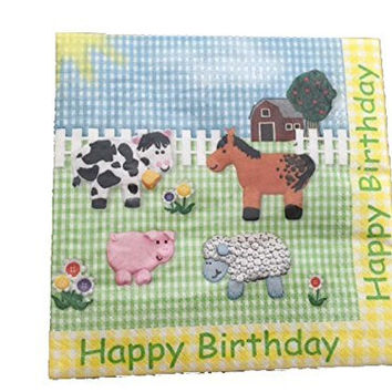 Creative Converting Farm Animal Theme Luncheon Paper Napkins
