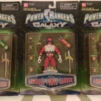 Bandai Power Rangers Lost Galaxy Gingaman Armored Red Green Blue 3 Action Figure Set