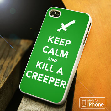 Minecraft Creeper Keep Calm iPhone 4(S),5(S),5C,SE,6(S),6(S) Plus Case