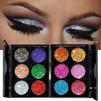 Shimmer Eye Shadow Palette Glitter Waterproof Brighten Eyeshadow Long Lasting Natural Makeup Pallete