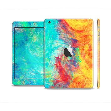 The Vibrant Colored Messy Painted Canvas Skin Set for the Apple iPad Mini 4