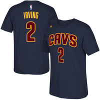 adidas Kyrie Irving Cleveland Cavaliers Navy Blue Net Number T-Shirt