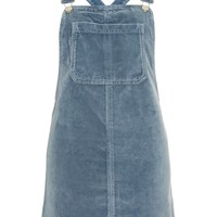MOTO Velvet Pinafore Dress