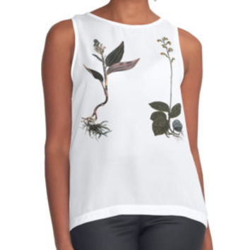 'Goodyera & Macodes' Contrast Tank by wildstrawberry