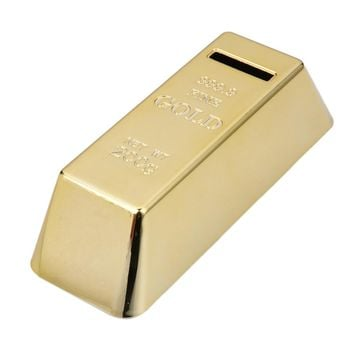 ABS Plastic Piggy Bank Gold Bullion Brick Coin Case Saving Money Box for Kids Children Birthday Gifts Home Decor