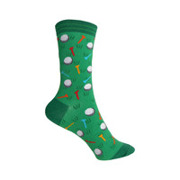 Golf Crew Socks in Green
