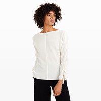 Oralee Lace Up Sleeve Cashmere