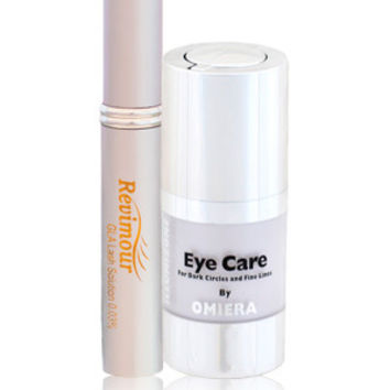 Dark Circles Under Eyes Treatment Serum + Eyelash Growth Serum