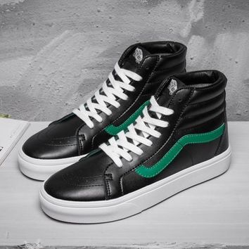 Vans SK8-Hi Classic High-Top Leather Flats Sneakers Sport Shoes