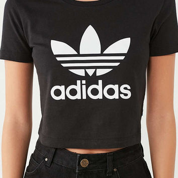 adidas Originals Trefoil Cropped Tee | Urban Outfitters