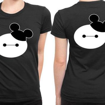 DCCKL83 Baymax Mouse Disney 2 Sided Womens T Shirt