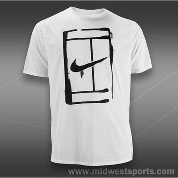 Nike Mens Tennis T-Shirt, Nike Court Logo T-Shirt 543607-101, Midwest Sports