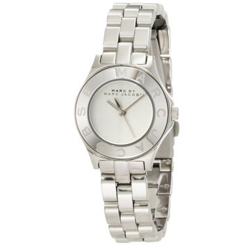 Marc by Marc Jacobs MBM3130 Women's Blade Mini Silver Dial Stainless Steel Bracelet Watch