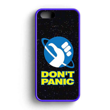 Hitchhikers Guide To The Galaxy Dont Panic S iPhone 5 Case iPhone 5s Case iPhone 5c Case