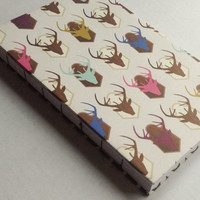 Country hunting mounted deer designed journal with 80 blank pages 5.5X8.5