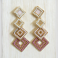 Pink 4 Piece Élise Earrings