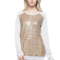 Glam Sequin Sweatshirt