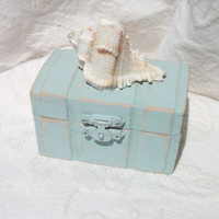 Beachy Coastal Nautical Shabby Chic Rustic Wedding Ring BOx Gift Box Trinket Box Wedding Decor
