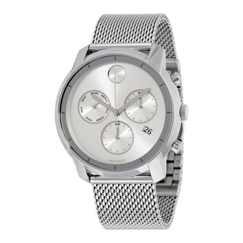 Movado Bold Silver Dial Stainless Steel Mens Watch 3600371