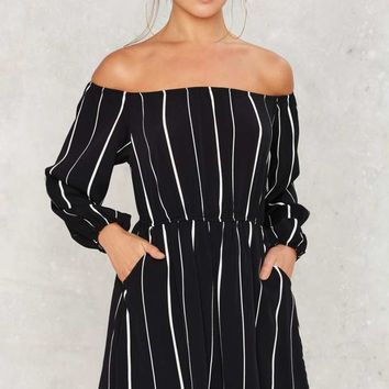 Line of the Times Off-the-Shoulder Dress