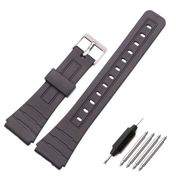 16mm 18mm 20mm Silicone Watch Strap Band Women Men Black Sport Diving Rubber Watchbands Buckle For Casio Watch Accessories