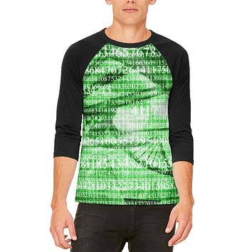 Math Science Genetics Geek Numbers are Life Mens Raglan T Shirt