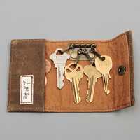 ogaki kaban - key holder solid brown