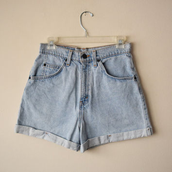 70s / 80s Levis 954 High Waisted Denim Shorts // Orange Tab //  Size 7 // Summer Festival Hipster, Grunge Revival Style