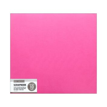 K&Co Scrapbook 12x12 Faux Leather Bright Pink