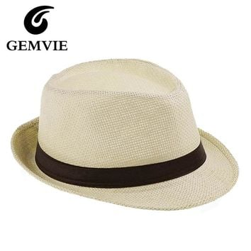 Summer Hats 6 Colors Solid Straw Hat for Women Beach Fedoras Casual Panama Sun Hats Jazz Caps