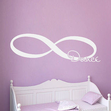Wall Decal Quotes Infinity Dance Decals Bedroom Home Decor Sticker Vinyl MR695