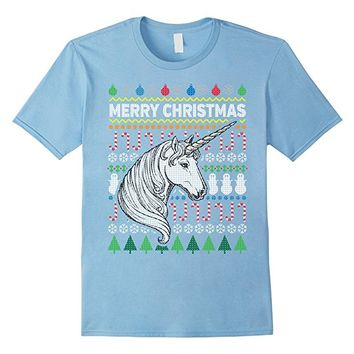 Unicorn Wildlife Merry Christmas Ugly Sweater T-shirt