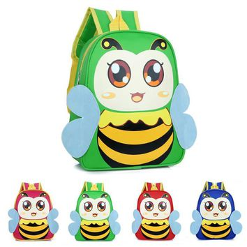 2017 New Cute Kids School Bags Cartoon Bee Dolls  Canvas Backpack Mini Baby Toddler Book Bag Kindergarten Rucksacks