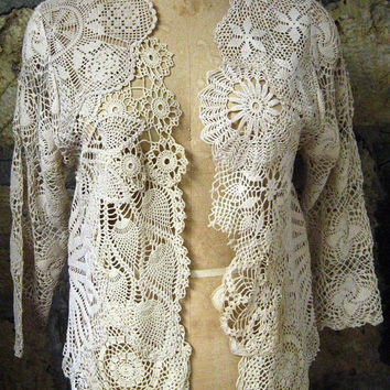 Vintage Crochet Doilies sweater by fleurdelis123 on Etsy