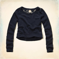 Solana Beach Lace Back Sweatshirt