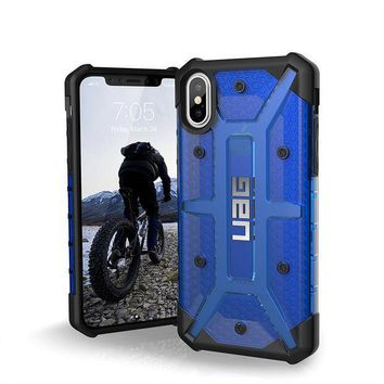 CREYRQ5 UAG iPhone X Plasma Feather-Light Rugged [COBALT] Military Drop Tested iPhone Case