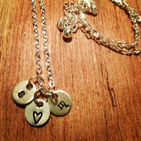 Couple's Initial Necklace
