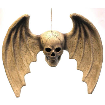 Halloween Skull With Wings Halloween Decor