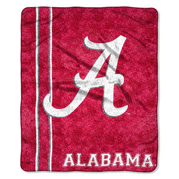 Alabama Crimson Tide NCAA Sherpa Throw (Jersey Series) (50in x 60in)