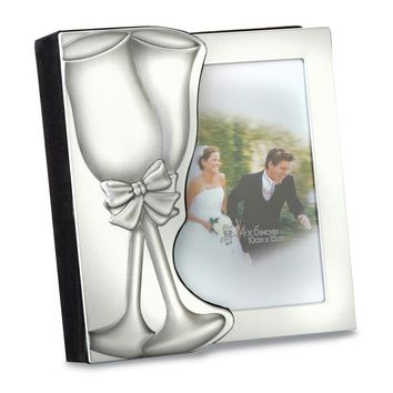 Toasting Glass Aluminum 4x6 Wedding Album